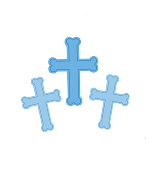 """Cutouts """"Kreuz - blau"""" - 3 Stück"""
