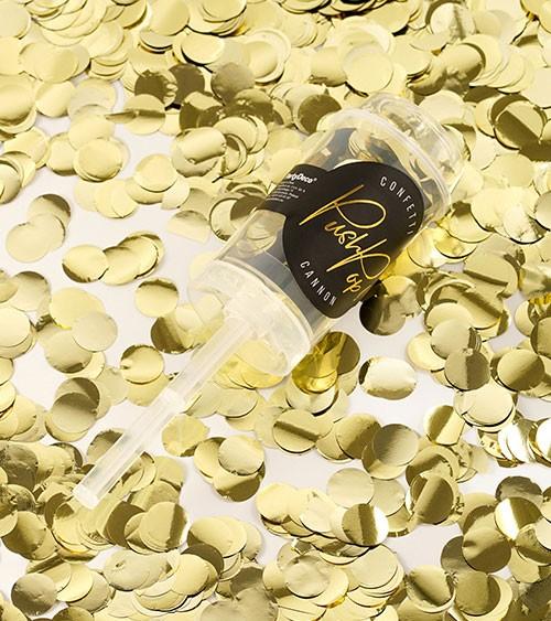 "Konfetti Push-Pop-Kanone ""Metallic"" - gold"