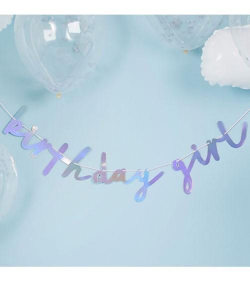 """DIY Schriftzug-Girlande """"Birthday Girl"""" - irisierend - 2m"""