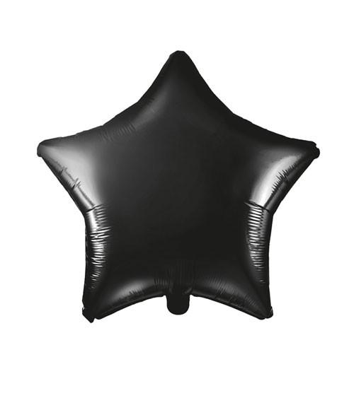 Stern-Folienballon - schwarz - 48 cm