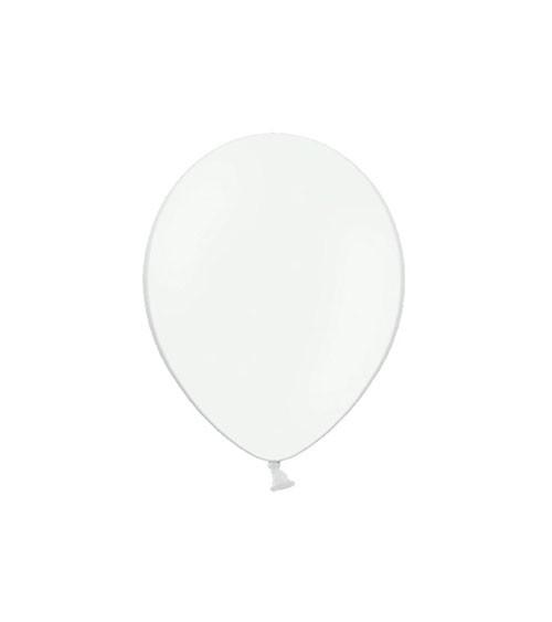 Mini-Luftballons - weiß - 12 cm - 100 Stück