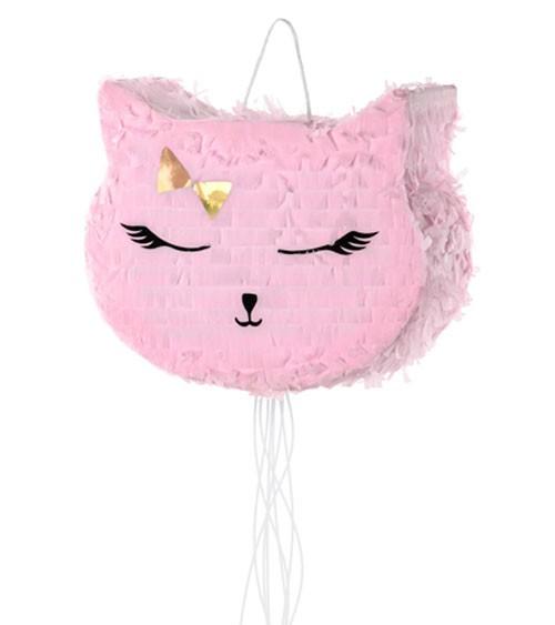 """Pinata zum Ziehen """"Rosa Katze"""" - 35 x 27 x 9 cm"""