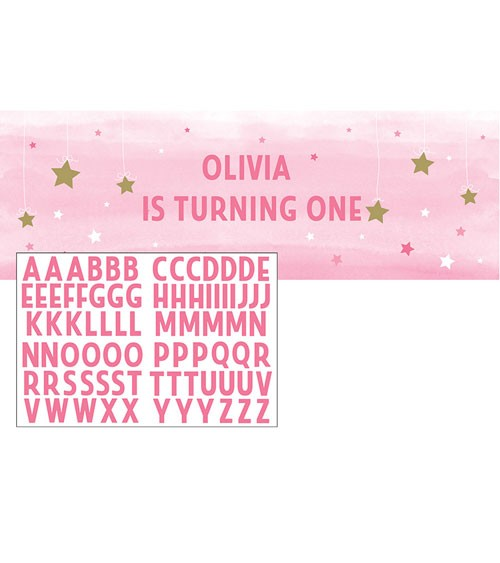 "Individualisierbarer Partybanner ""One Little Star - Girl"" - 152 cm"