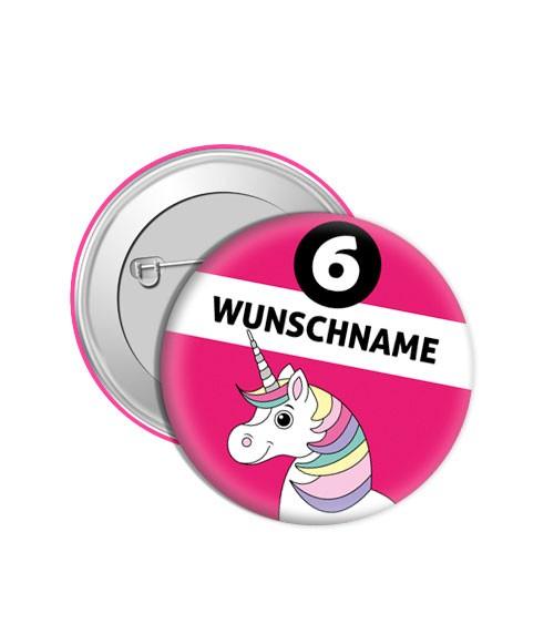 """Dein Button """"Einhorn"""" - Wunschtext"""