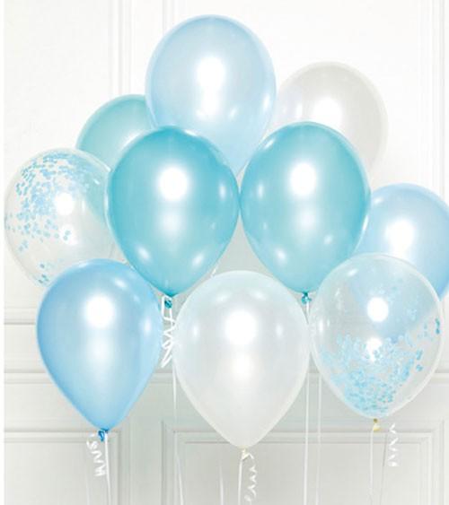 "Luftballon-Set ""Bouquet Blau"" - 11-teilig"