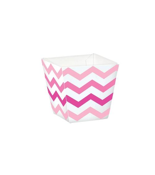 "Mini-Süßigkeitenboxen ""Chevron"" - rosa/pink - 36 Stück"