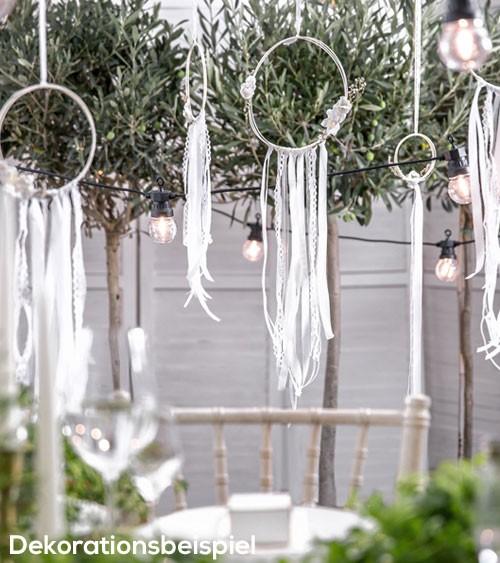 Floral Hoop-Set - weiß - 3-teilig