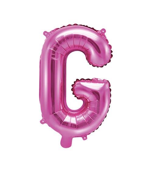 """Folienballon Buchstabe """"G"""" - pink - 35 cm"""