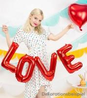 "Folienballon-Set ""LOVE"" - rot - 140 x 35 cm"