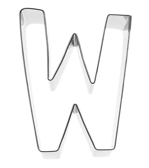 Ausstechform Buchstabe W - 6 cm