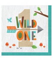 """Servietten 1. Geburtstag """"Wild One Woodland"""" - 16 Stück"""