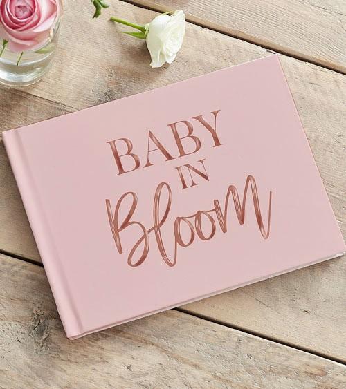"""Gästebuch """"Baby in Bloom"""" - 32 Seiten"""