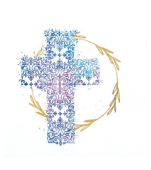 "Servietten ""Kreuz"" - blau - 20 Stück"