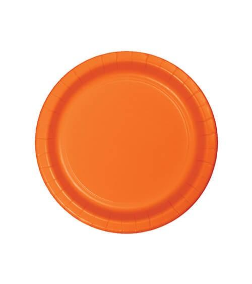 Kleine Pappteller - orange - 24 Stück