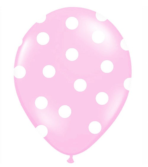 "Luftballons ""Big Dots"" - rosa - 50 Stück"