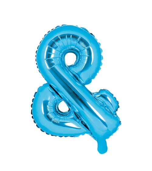 "Folienballon Zeichen ""&"" - blau - 35 cm"