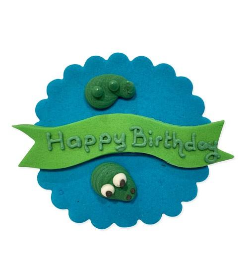 "Zuckerdekor ""Krokodil"" - Happy Birthday - 7,5 cm"