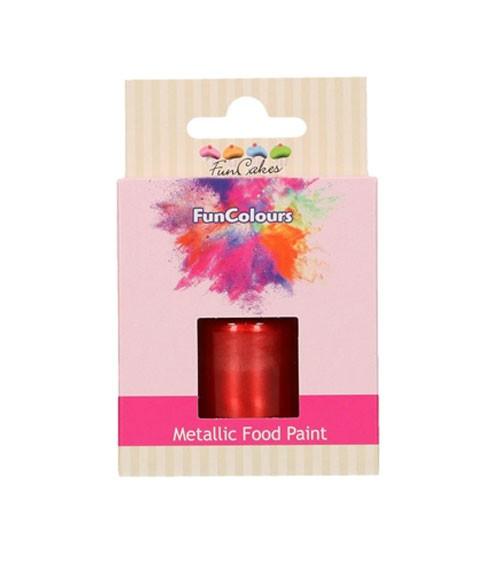 FunCakes Lebensmittelfarbe - metallic rot - 30 ml