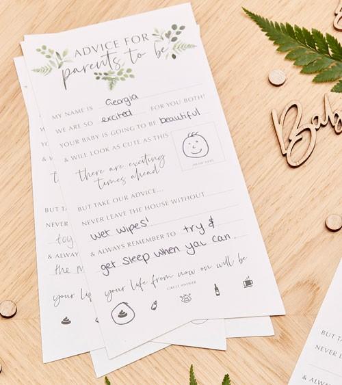 """Advice Cards """"Botanical Baby Shower"""" - 10 Stück"""