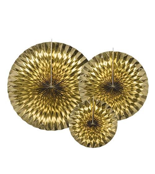 Rosetten-Set - gold metallic - 3-teilig