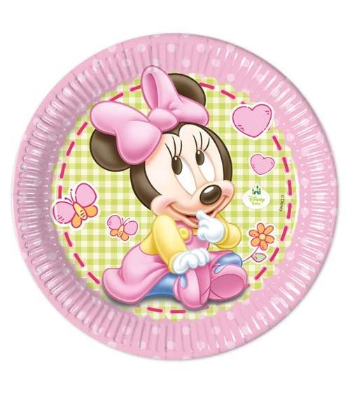 """Pappteller """"Baby Minnie"""" - 8 Stück"""