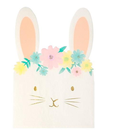 """Shape-Servietten """"Floral Bunny"""" - 16 Stück"""