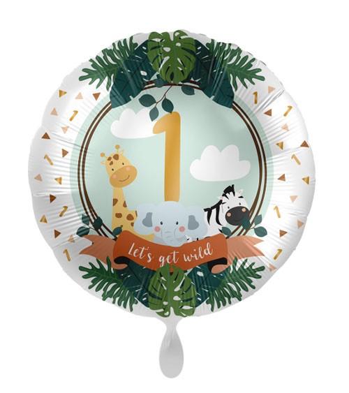 "Folienballon ""Jungle Friends"" - 1. Geburtstag"