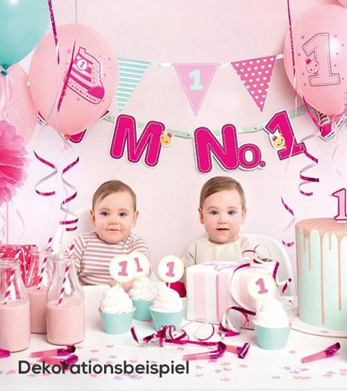 """Party-Deko-Set """"I'm No.1 - pink"""" - 42-teilig"""