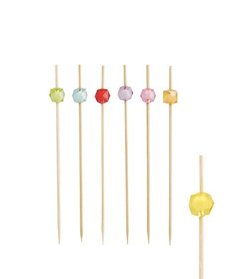 """Fingerfood-Spieße aus Bambus """"Diamant"""" - 12 cm - 40 Stück"""