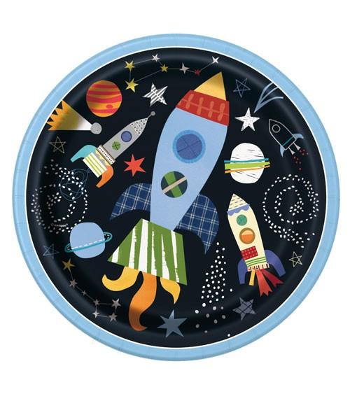 """Pappteller """"Outer Space"""" - 8 Stück"""