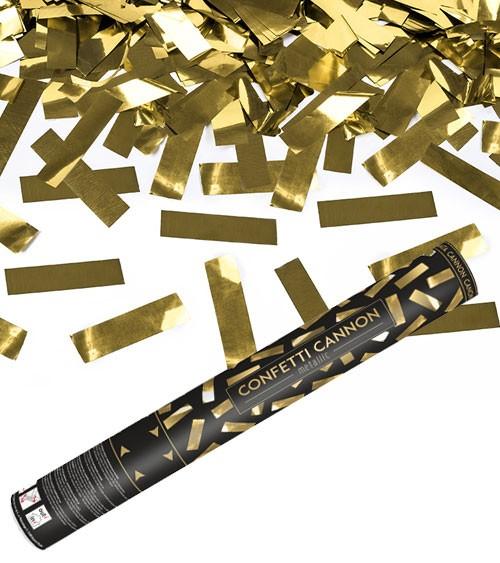 Konfetti-Kanone - gold - 40 cm