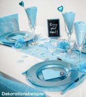 Tischläufer aus Vlies - pastellblau - 30 cm x 10 m