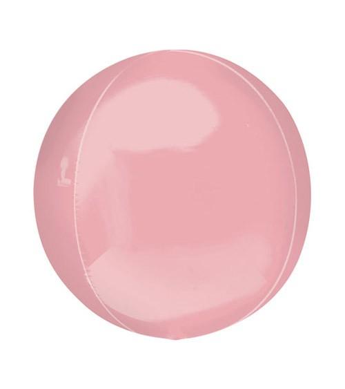 Orbz-Folienballon - rosa - 38 x 40 cm