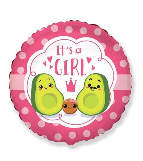 """Folienballon """"Avocado Family"""" - It's a Girl - 46 cm"""