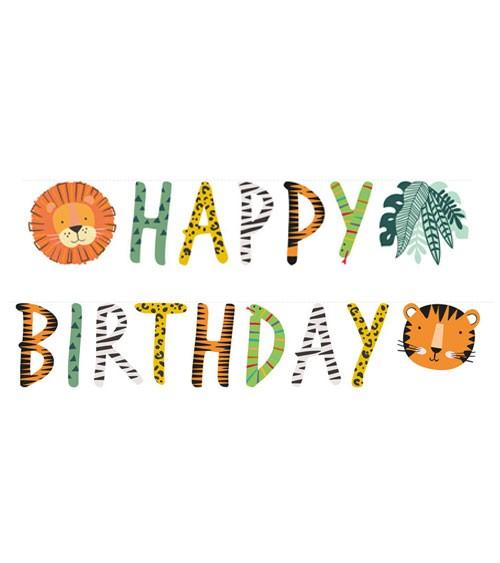 "Happy Birthday Girlande ""Get Wild"" - 1,8 m"