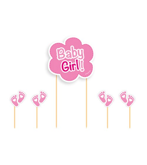 "Cake-Topper-Set ""Baby Girl"" - 5-teilig"