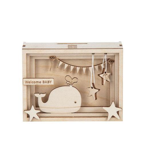 "DIY 3D-Geschenkbox aus Holz ""Baby"" - 11,5 x 8,5 x 5 cm"