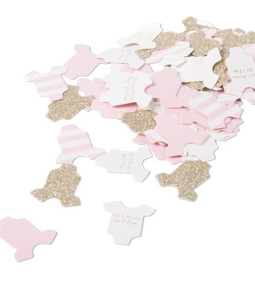 Babybody-Konfetti - rosa, gold - 100-teilig