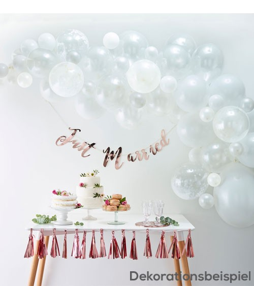 "Ballongirlanden-Set ""Farbmix Weiß"" - 70-teilig"