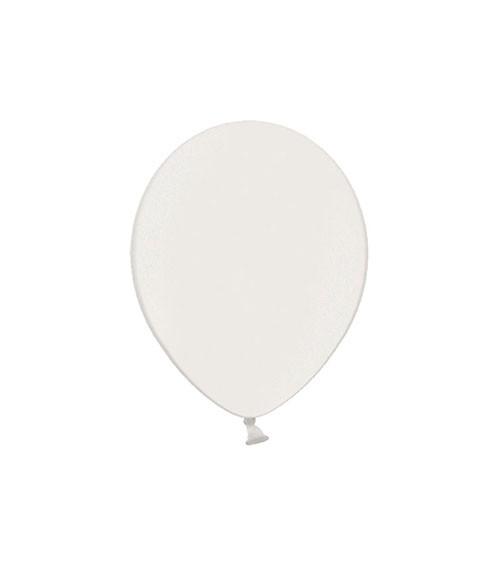 Mini-Luftballons - metallic weiß - 12 cm - 100 Stück