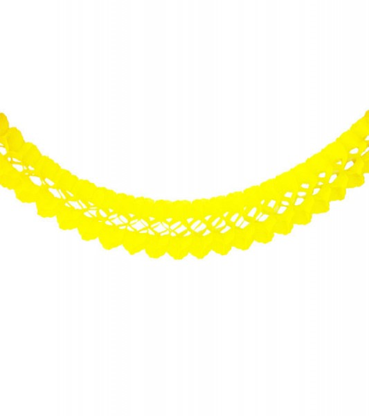 Seidenpapiergirlande - gelb - 4 m
