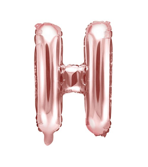 "Folienballon Buchstabe ""H"" - rosegold - 35 cm"