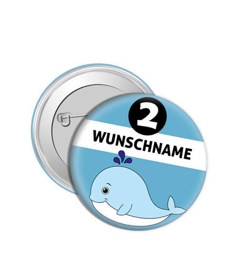 """Dein Button """"Wal"""" - Wunschtext"""