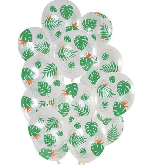 """Transparente Luftballons """"Tropische Blätter"""" - 15 Stück"""
