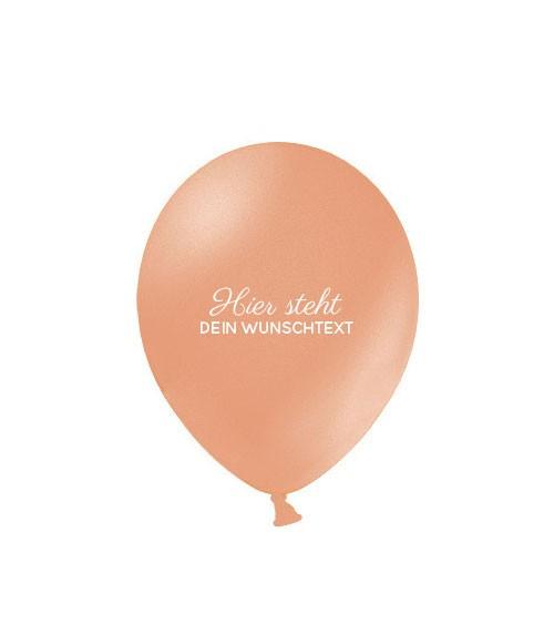 """Deine Luftballons """"Wunschtext"""" - metallic - 100 Stück"""