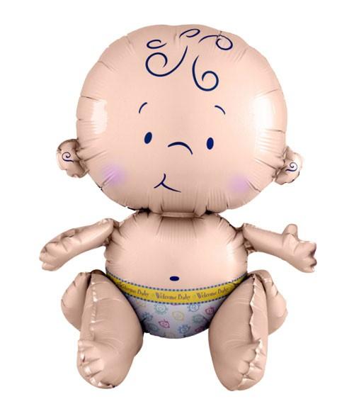 """Multi-Folienballon """"Sitzendes Baby"""""""