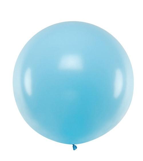 Großer Rundballon - pastell hellblau - 60 cm