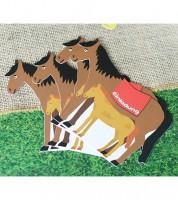 """Einladungskarten """"Pferd mit Fohlen"""" - 6 Stück"""