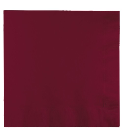 Servietten - burgund - 50 Stück