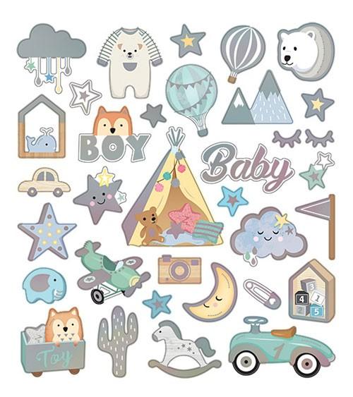 """Sticker """"Baby Boy"""" - mit Metallic-Effekt - 1 Bogen"""